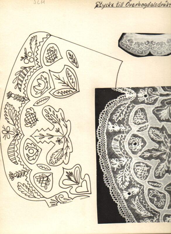 Överhogdal sockendräkt stycke mönster