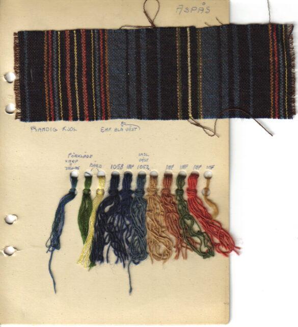 Aspås sockendräkt kjol tygprov
