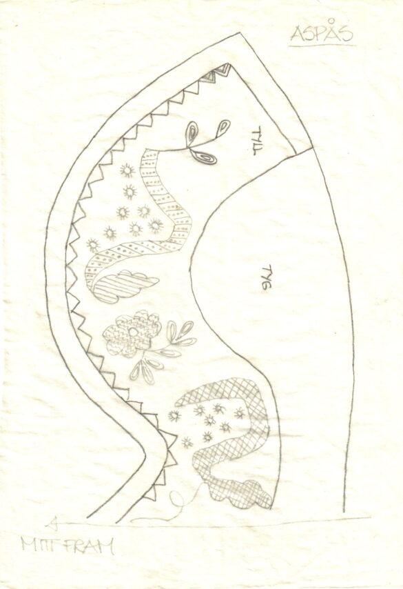 Aspås sockendräkt mönster stycke