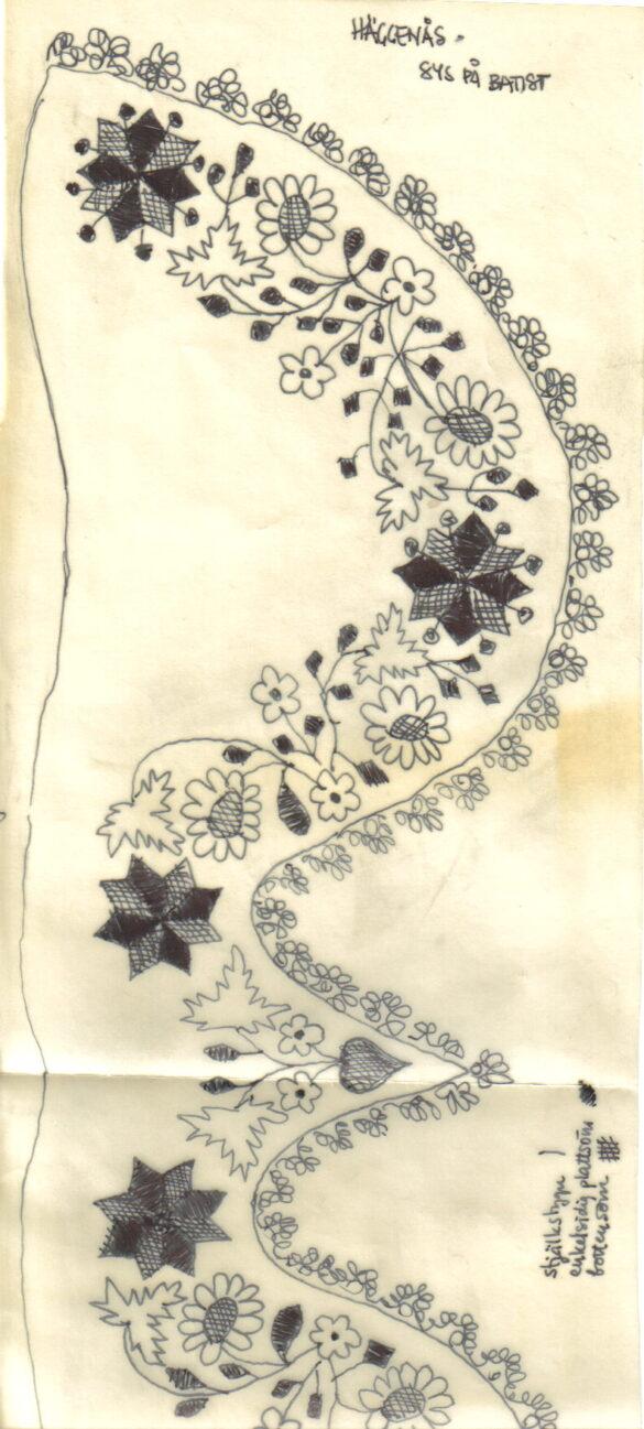Häggenås sockendräkt stycke mönster