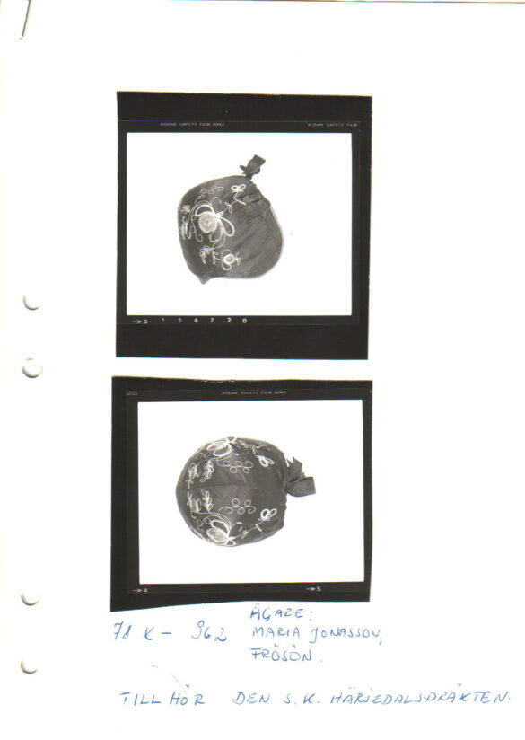 Härjedalen sockendräkt bindmössa foto
