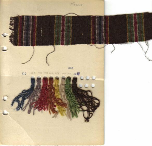 Myssjö sockendräkt kjol tygprov