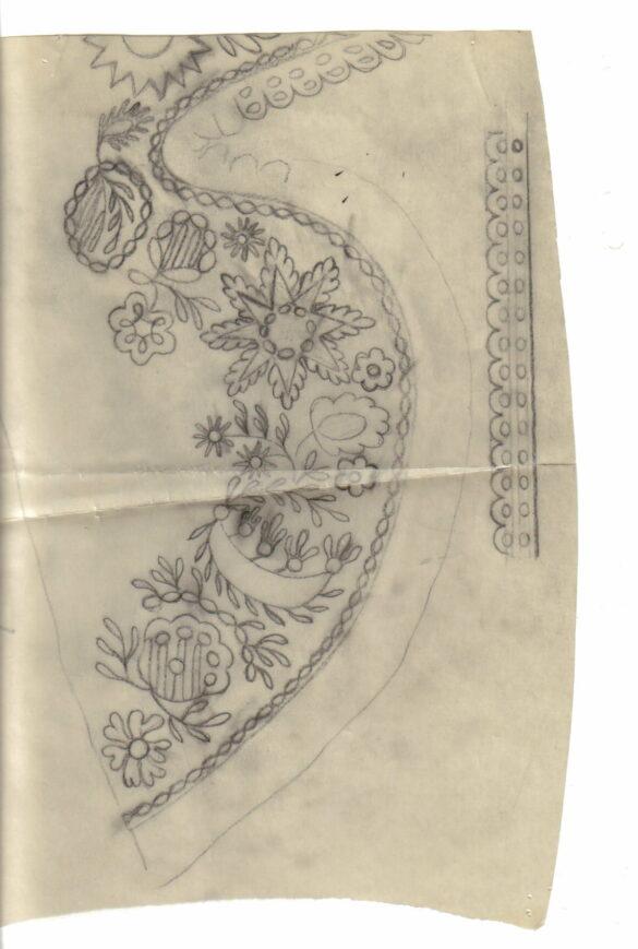 Rätan sockendräkt stycke mönster