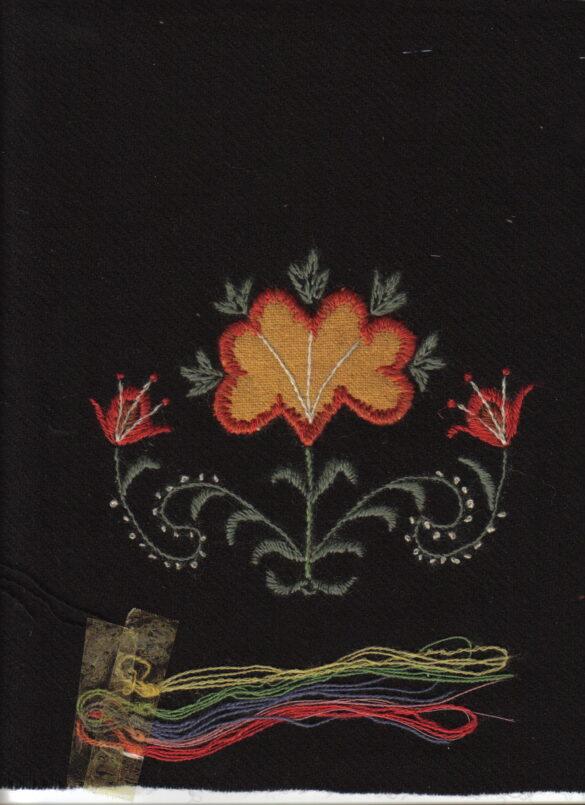 Rödön sockendräkt kjolväska tygprov
