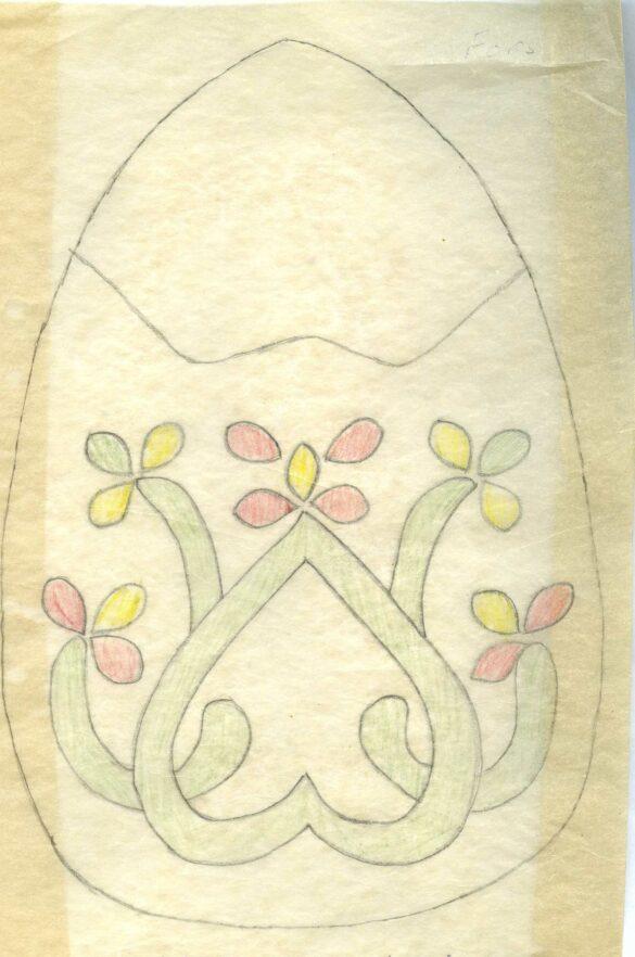 Fors sockendräkt kjolväska mönster