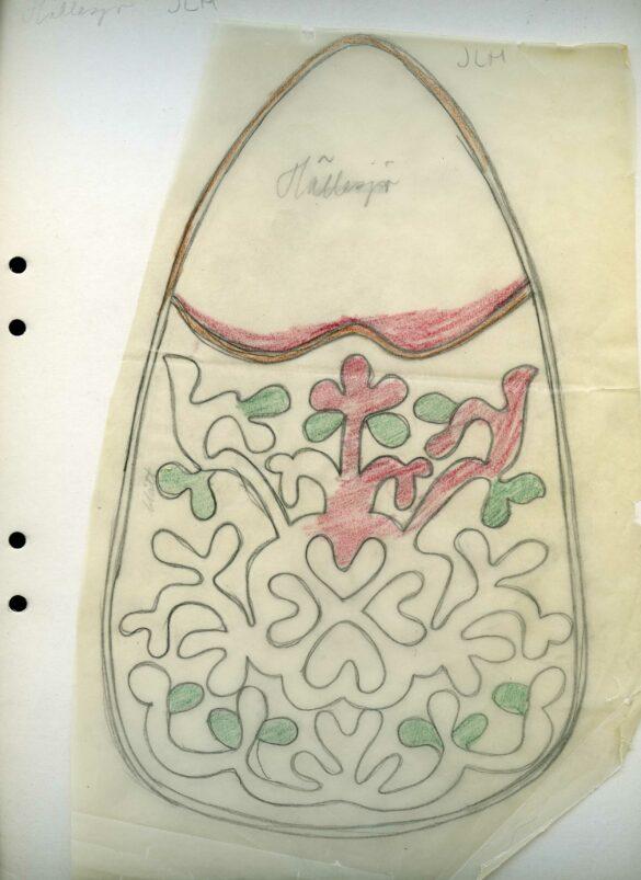 Hällesjö sockendräkt kjolväska mönster