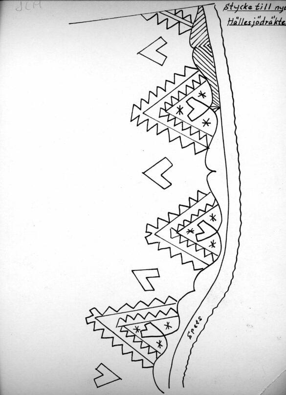 Hällesjö sockendräkt stycke mönster