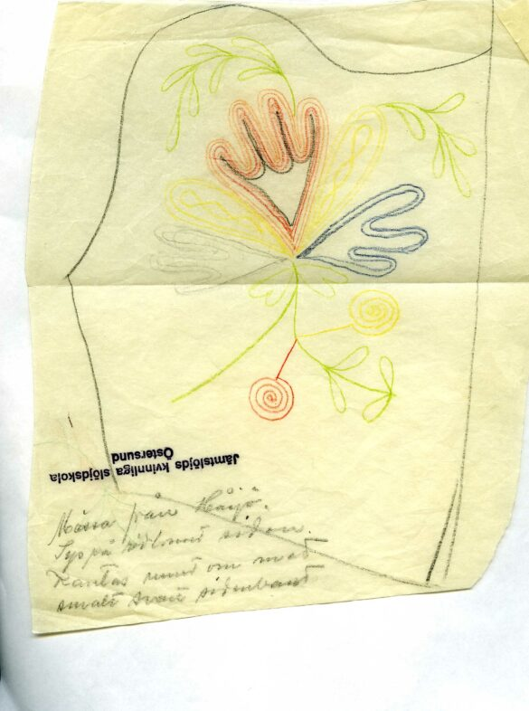 Håsjö sockendräkt bindmössa mönster