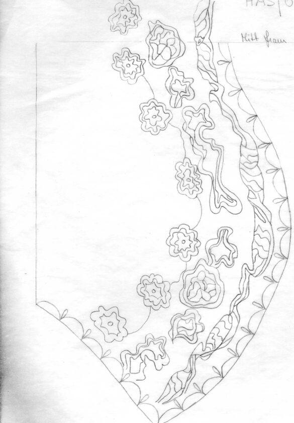 Håsjö sockendräkt stycke mönster