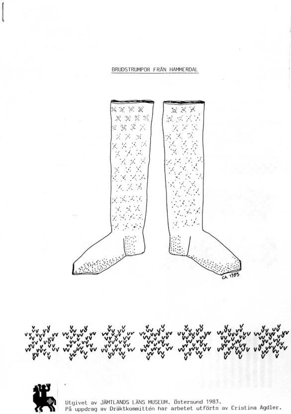 Hammerdals sockendräkt tillbehör strumpor skiss