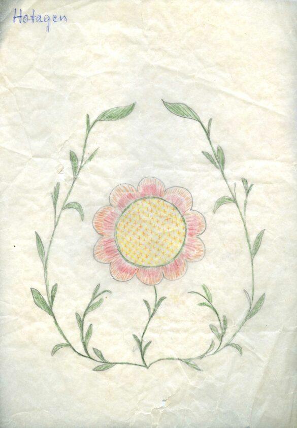 Hotagen sockendräkt kjolväska mönster