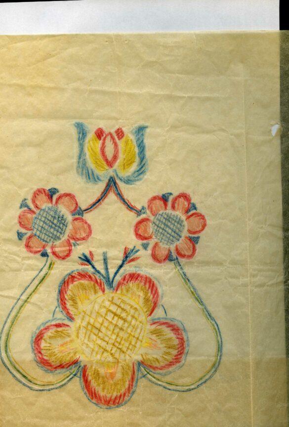 Kall sockendräkt kjolväska mönster