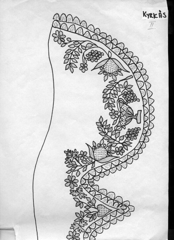 Kyrkås sockendräkt stycke mönster