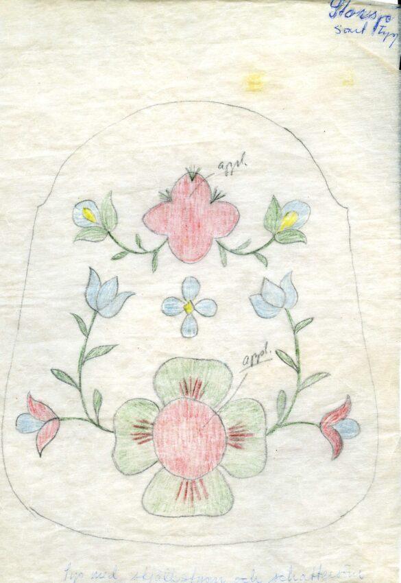 Ljungdalen sockendräkt kjolväska mönster