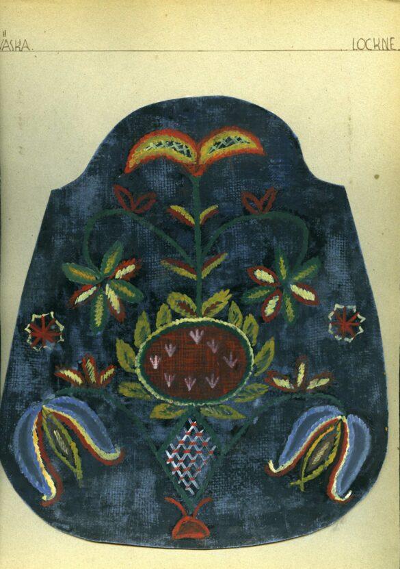 Lockne sockendräkt kjolväska skiss