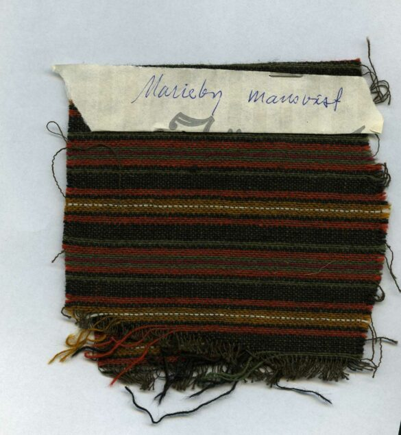 Marieby sockendräkt tygprov