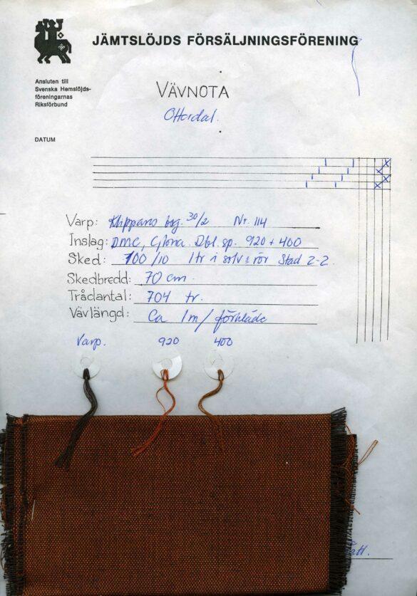 Offerdals sockendräkt förkläde vävnota