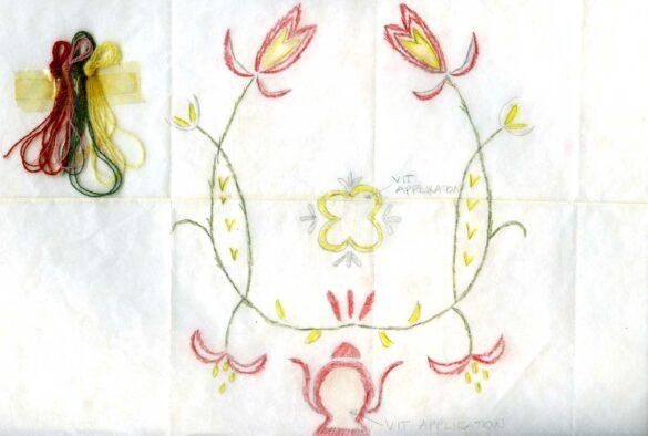 Offerdals sockendräkt kjolväska mönster