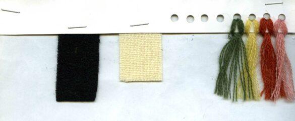 Offerdals sockendräkt kjolväska tygprov