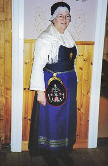 Aspås sockendräkt foto från sömnadskurs