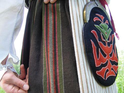 Ragunda sockendräkt kjolväska foto